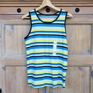 Other - BOYS striped summer tank top L 12/14